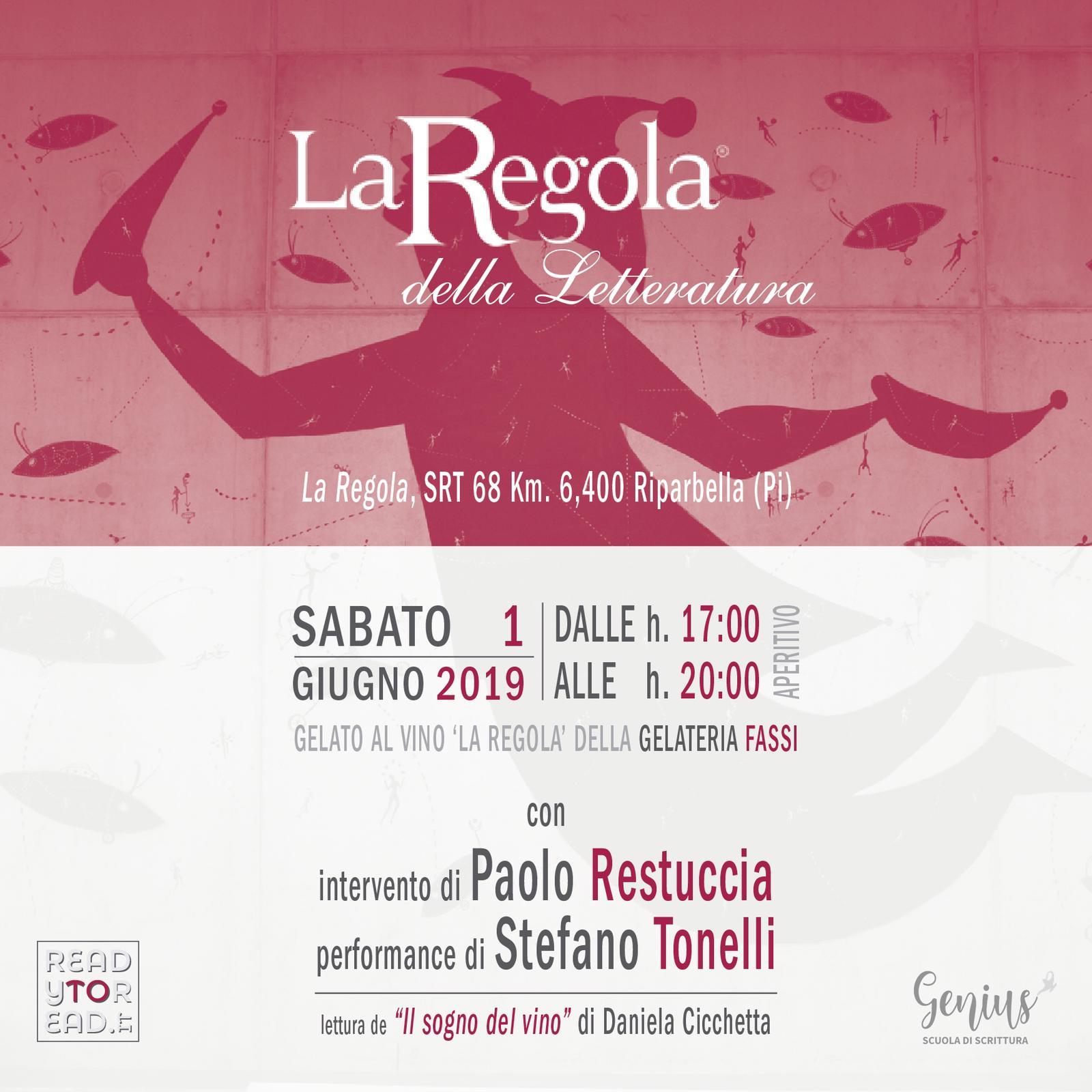 """La Cantina La Regola di Riparbella apre le porte per l'evento """"La Regola della Letteratura"""""""